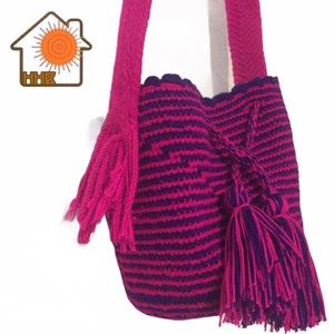 Colombian Mochila Wayuu Handwoven Crossbody Bag